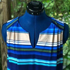 Luxology Dresses - Luxology   Blue Striped Stretch Dress